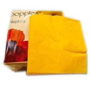 Yellow 4-fold Napkins 33cm (pack of 2000)