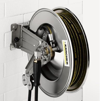 20m Stainless Steel Hose Reel   Karcher   Click Cleaning UK