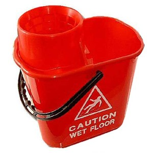 Red Professional Mop Bucket