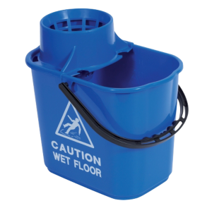 Blue Professional Mop Bucket And Wringer Click Cleaning Uk
