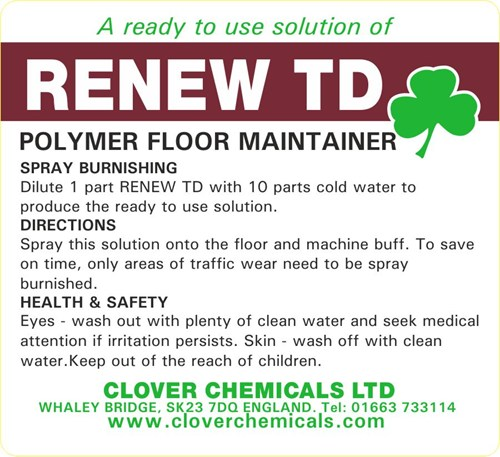 Renew TD Trigger Spray Label (RTU)