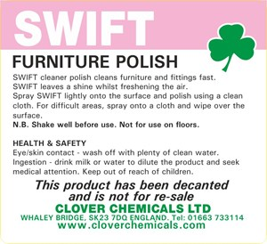 Swift Polish Trigger Spray Label (RTU)
