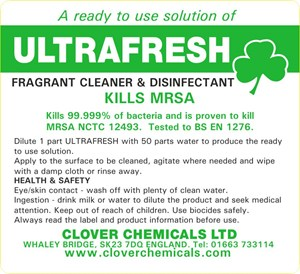 Ultrafresh Trigger Spray Label (RTU)