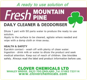 Fresh Mountain Pine Trigger Spray Label (RTU)