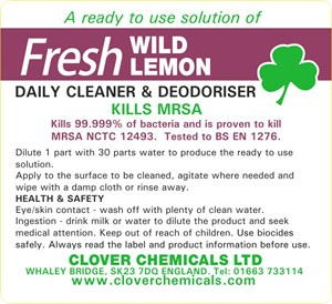 Fresh Wild Lemon Trigger Spray Label (RTU)