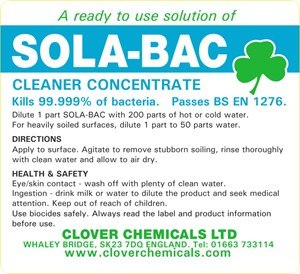 Sola-bac Trigger Spray Label (RTU)