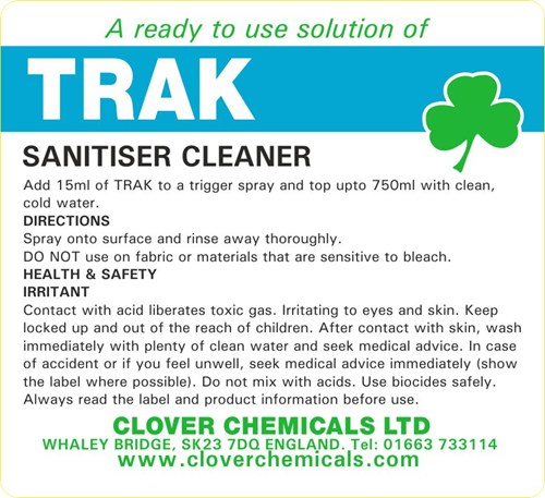 Trak Trigger Spray Label (RTU)