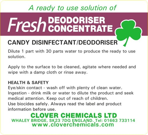 Fresh Deodoriser Concentrate Label (RTU)