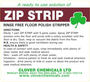 Zip Strip Trigger Spray Label (RTU)