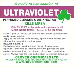 Ultraviolet Trigger Spray Label (RTU)