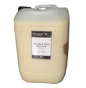 Diamondbrite Wash and Wax Yellow 25-litre (JU125)