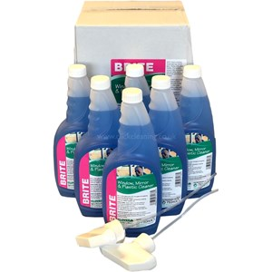 Brite - Glass and Plastic Cleaner 6x750ml  (with 2 trigger heads)