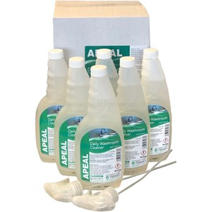 Apeal Daily Washroom Cleaner 6x750ml (with 2 trigger heads)