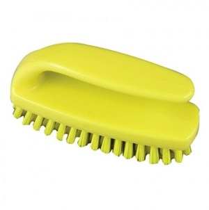 Medium Grippy Nail Brush Yellow