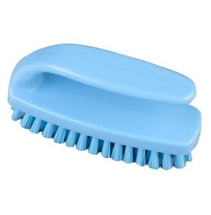 Medium Grippy Nail Brush Blue