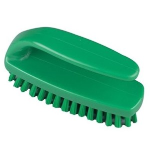 Medium Grippy Nail Brush Green