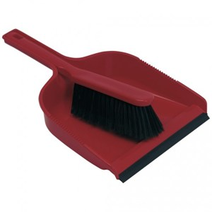 Dustpan and Brush Set Red