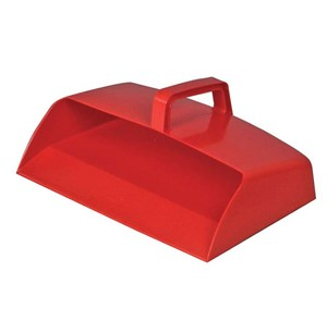 Large Plastic Dustpan Red