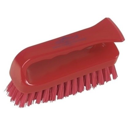 Grippy Hygiene Scrub Brush Red