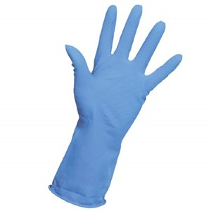 Household Rubber Gloves Blue (pair)