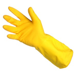 Household Rubber Gloves Yellow (pair)