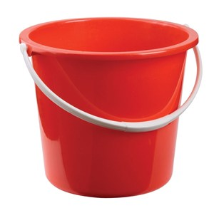 Plastic Bucket 10litre Red