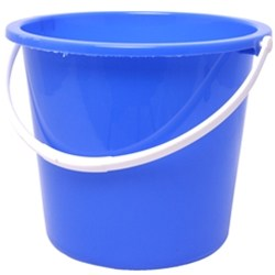Plastic Bucket 10litre Blue