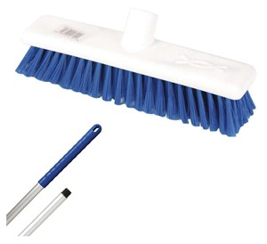 "Abbey 12"" Soft Broom - Blue (complete with handle)"