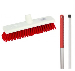 "Abbey 12"" Soft Broom - Red (complete with handle)"