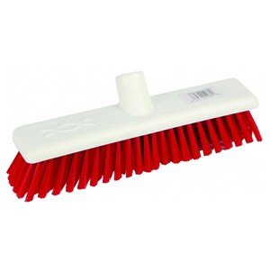 "Abbey 12"" Stiff Broom Head - Red"