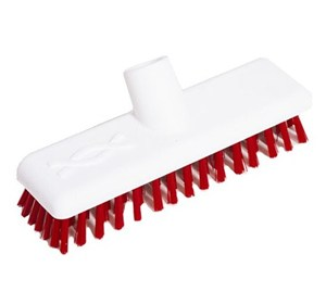 "Abbey 9"" Deck Scrub Head - Red"