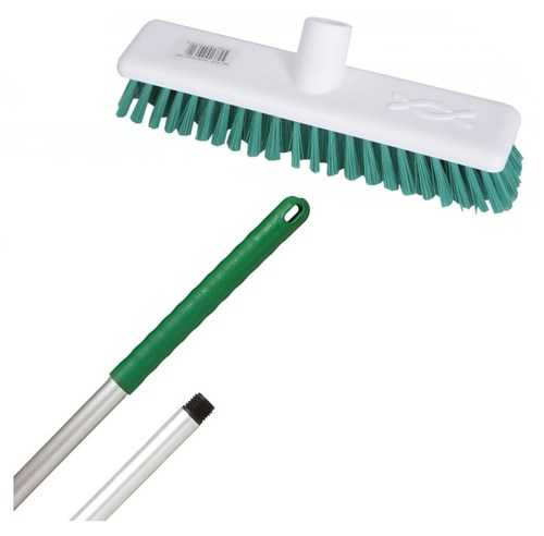 "Abbey 9"" Deck Scrub - Green (complete with handle)"