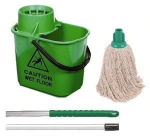 Green Professional Bucket and PY Mop