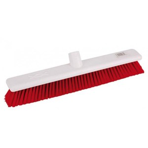 "Abbey 18"" Stiff Broom Head - Red"