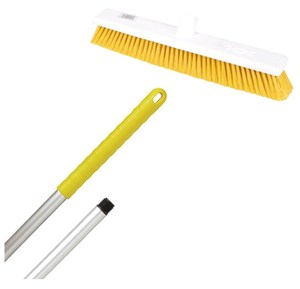 "Abbey 18"" Soft Broom - Yellow (complete with handle)"