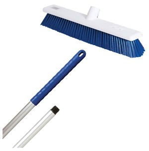 "Abbey 18"" Soft Broom - Blue (complete with handle)"