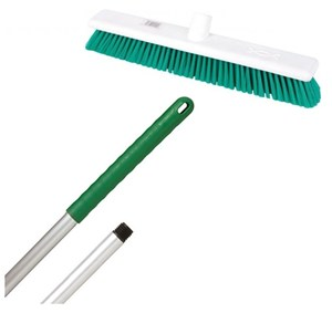 "Abbey 18"" Soft Broom - Green (complete with handle)"