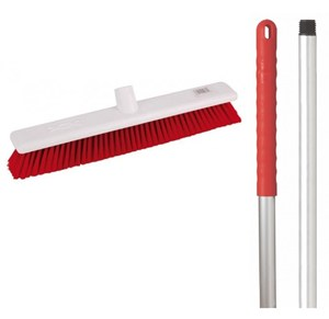 "Abbey 18"" Soft Broom - Red"