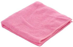 Red Premium Microfibre Cloths 40x40cm (pack of 10)