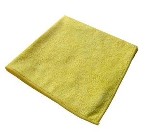 Yellow Premium Microfibre Cloths 40x40cm (pack of 10)