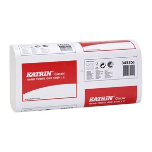 Katrin 345355 Classic One Stop 2ply White Hand Towels (21x110)