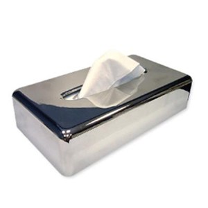Chrome Tissue Box Cover
