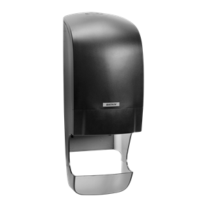 Katrin Inclusive Black System Toilet Roll Dispenser 92049