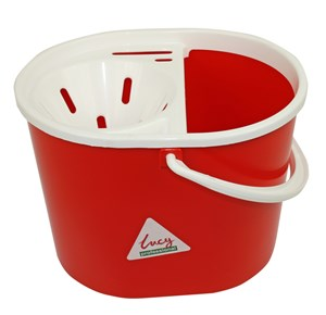 Lucy Oval Mop Bucket Red