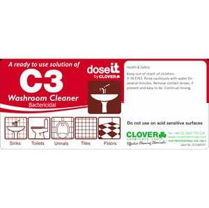 DoseIT C3 Sanitary Cleaner Label (RTU)