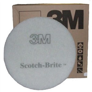 "3M Premium White Floor Pads 16"" (Box of 5)"