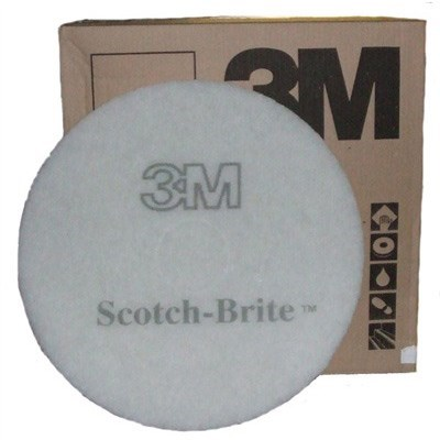 "3M Premium White Floor Pads 17"" (single)"