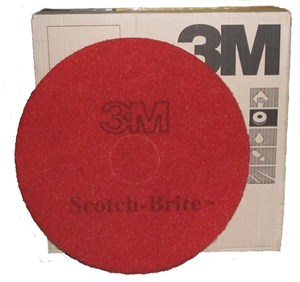 "3M Premium Red Floor Pads 16"" (5)"