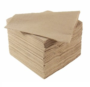 Brown Recycled Paper Napkins 33cm 2ply 8-fold