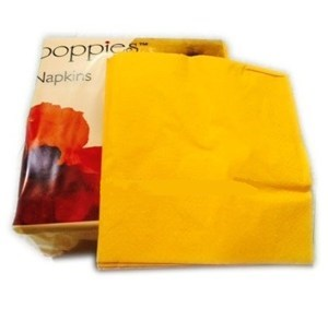Yellow Pre-folded (8-fold) 3-ply Napkins 40x40cm (pack of 1000)